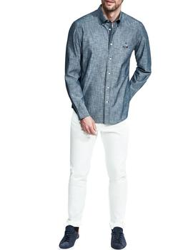 Camisa Façonnable SPW Club Birdie Chambray gris