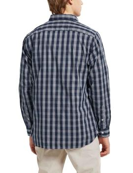 Camisa Tommy Hilfiger Multi Check azul hombre