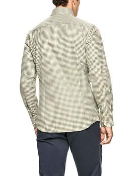 Camisa Hackett Check Flannel Oxford verde hombre