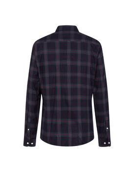 Camisa Hackett Blackwatch Plaid Flannel marino hombre