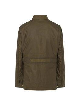 Chaqueta Hackett British Kit Waxed verde hombre