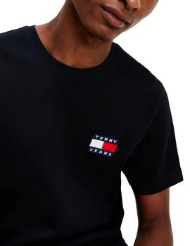 Camiseta Tommy Jeans Badge negro hombre