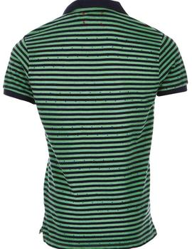 Polo Rayas Hombre Take A Way Verde