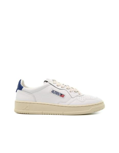 Deportivas Autry Low Leather White/Dark Blue hombre