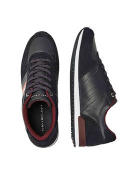 Deportivas Tommy Hilfiger Iconic Mix Runner marino hombre