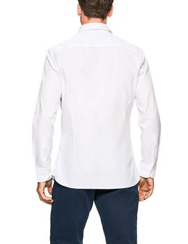 Camisa Hackett Washed Oxford blanco hombre