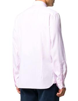 Camisa Hackett Washed Oxford rosa hombre