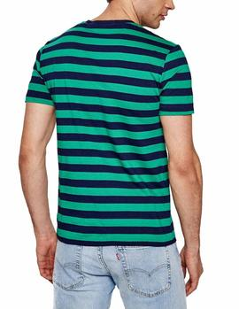 Camiseta Ralph Lauren Custom Slim Fit verde hombre