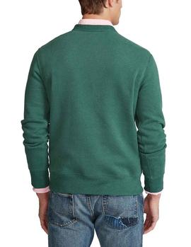 Felpa Ralph Lauren Magic Fleece Polo Bear verde hombre