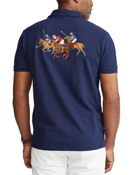 Polo Ralph Lauren Custom Slim Fit Bordado marino hombre