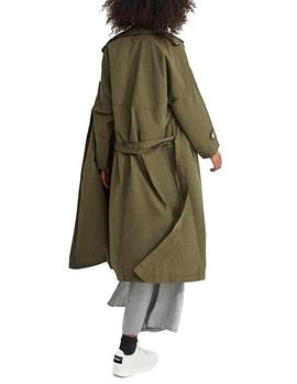 Trench Ecoalf Mos Oversize caqui mujer