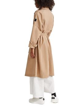 Trench Ecoalf Mos Oversize tostado mujer