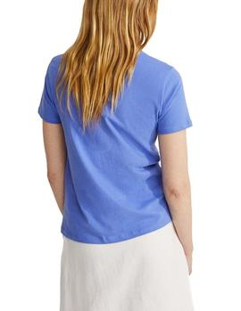 Camiseta Ecoalf Underlined Because lavanda mujer