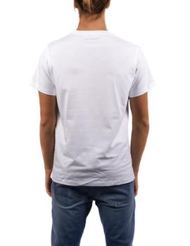Camiseta elPulpo Blue Patches blanco hombre