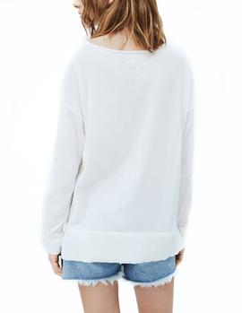 Jersey Pepe Jeans Lucy blanco mujer