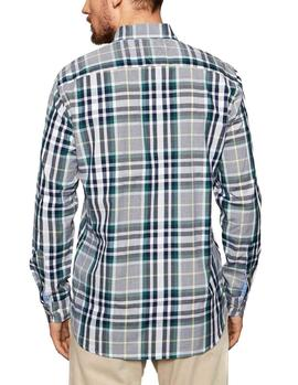 Camisa Tommy Hilfiger Midscale Check verde hombre