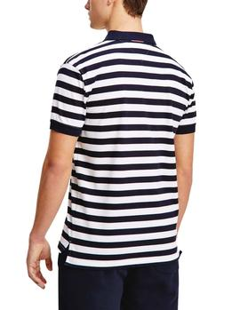 Polo Tommy Hilfiger Stripe Regular marino hombre