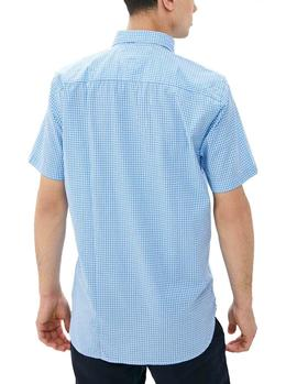 Camisa Tommy Hilfiger WCC Basic Gingham azul hombre