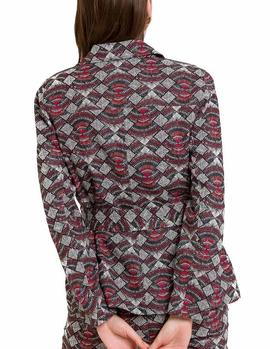 Parka Naf Naf Estampado Tribal multicolor mujer
