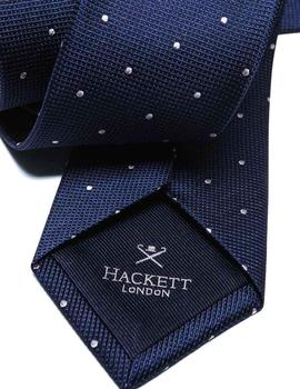 Corbata Hackett London Dot marino hombre