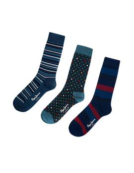 Calcetines Pepe Jeans Marc 3 Pack Multi hombre