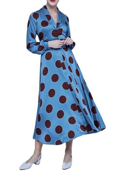 Camisero Azul Vestido Promesas Dolores Lunares wBnzqvxpzS