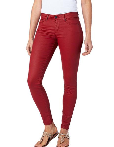 ef13f1cb48 Pantalones mujer Pepe Jeans Pixe granate