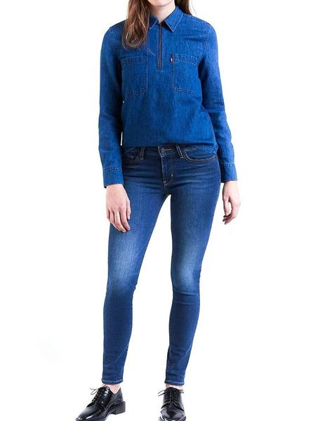 b5bb9e839fc ... Vaqueros Levi s 711 Skinny Extra Mile azul mujer. Mujer. Gallery 005449  4. Gallery 005449 1
