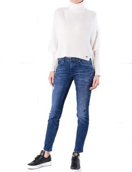 Jersey Pepe Jeans Jodie blanco roto mujer