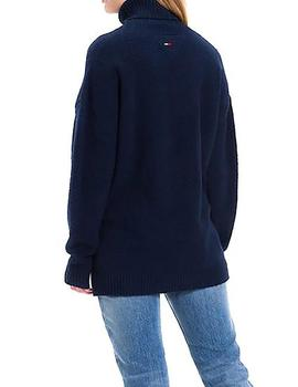 Jersey Tommy Denim Oversized Turtle marino mujer
