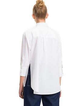 Camisa Tommy Denim Tjw Solid Oversized blanca
