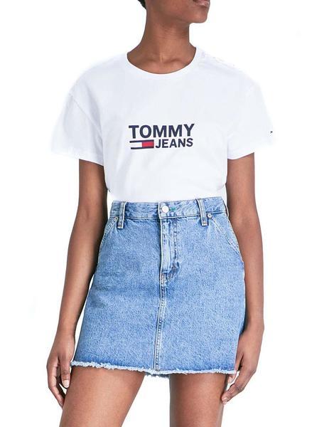 4c022c16b7f1 Camiseta Tommy Hilfiger Tjw Flag Tee Mujer blanca