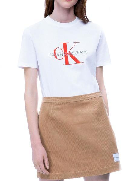 oficial mejor calificado nuevas variedades elegante y elegante Camiseta Calvin Klein Satin Monogram Relax blanco