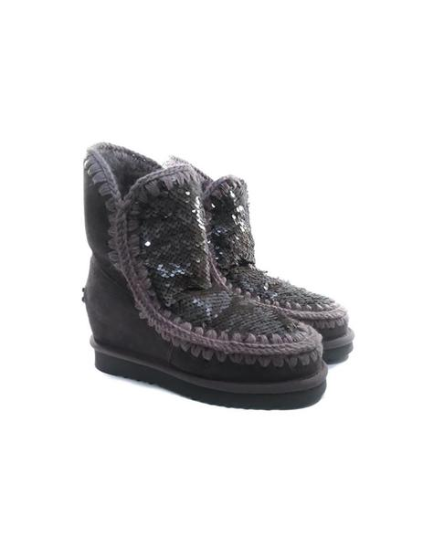 ceb67480d5 Gallery 005209 2. Gallery 005209 3. Gallery 005209 1. Botas Mou Eskimo  Wedge Short Sequins gris mujer ...