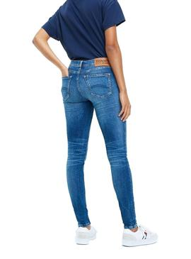 Vaqueros Tommy Jeans Mid Rise Skinny Nora azul