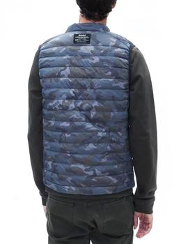 Chaleco Ecoalf Cardiff Down Camuflaje gris hombre
