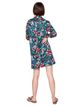 Vestido Pepe Jeans Luciana print tropical mujer