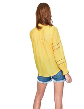 Blusa Pepe Jeans Isabelle ocre mujer