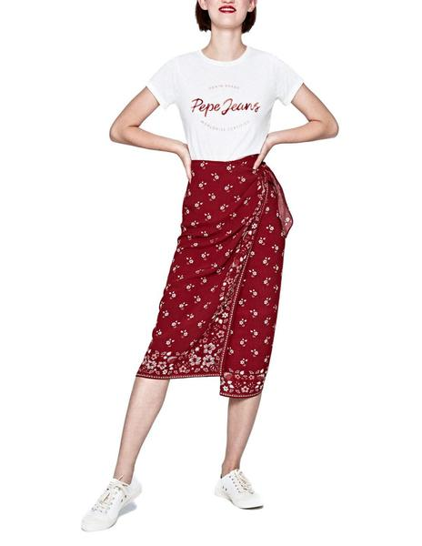 27778ab392 Falda Pepe Jeans Fifi burdeos mujer