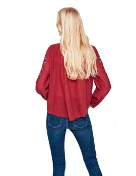 Blusa Pepe Jeans Mie rojo mujer