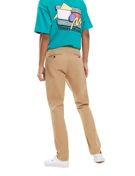 Pantalones Tommy Jeans Slim Chino camel hombre