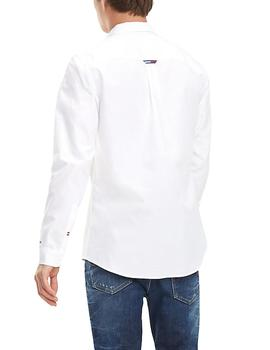 Camisa Tommy Jeans Solid Twill blanco hombre