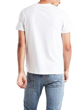 Camiseta Levi's x Peanuts Graphic Set In Neck blanco hombre