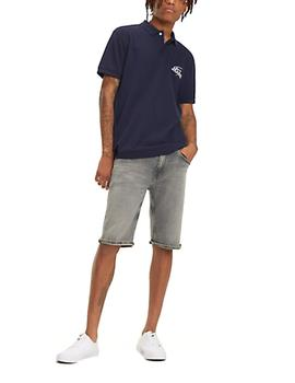 Polo Tommy Jeans Solid Graphic marino hombre