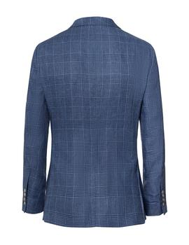 Americana Hackett Linen Glen Check azul hombre Regular