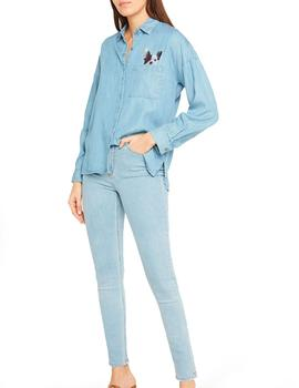 Camisa Paul and Joe Sister Voyouze denim azul mujer