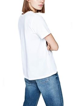 Camiseta Pepe Jeans 45Th 03L blanco mujer