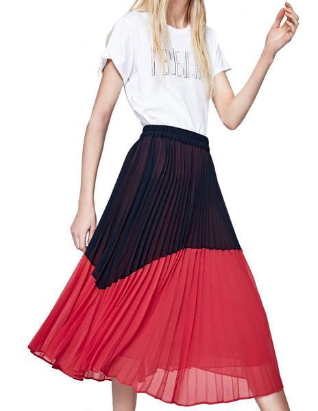 61e4b919e Falda Pepe Jeans Beli rojo/marino mujer