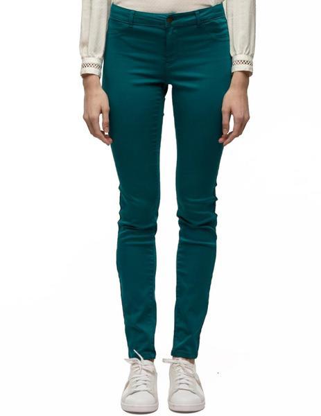 Pantalones Naf Naf Kenp74 Verde Mujer