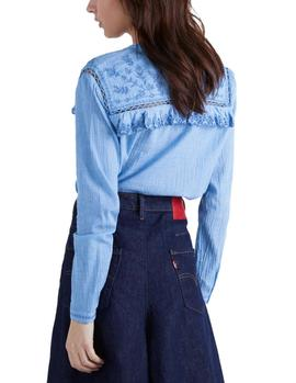 Camisa Pepe Jeans Holly denim azul mujer